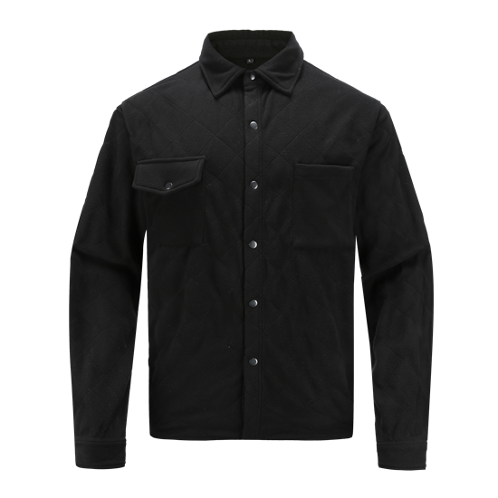 RESHAPE-Recycled quilted fleece big shirt