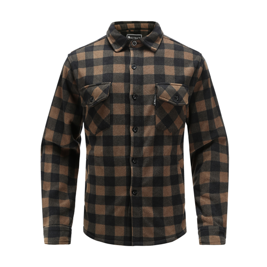 REVENT-Recycled allover printed fleece shirt