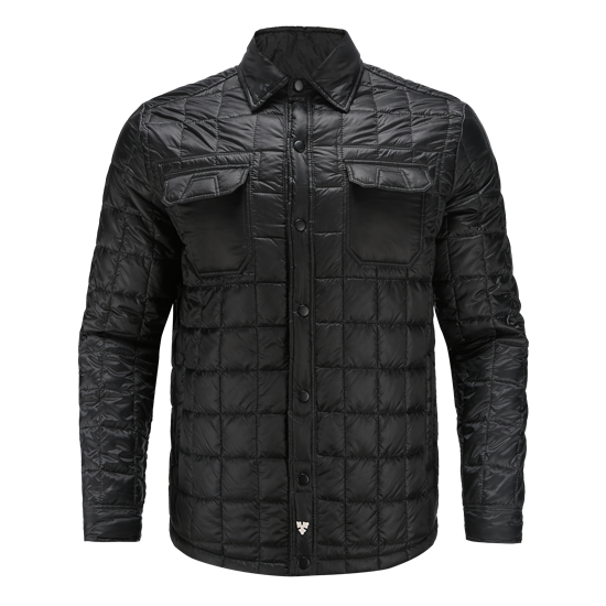 RESPECT-Recycled polyester quilted thermo shirt jacket