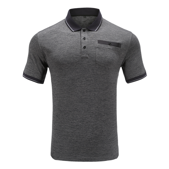 RESOURCE-Recycled MEN'S POCKET RIB POLO