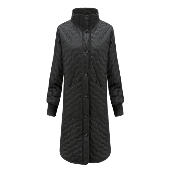 REUSE-Recycled WOMEN'S QUILTED OVERCOAT